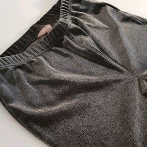 2 for $20!! NWOT Dark Silver Velour Leggings